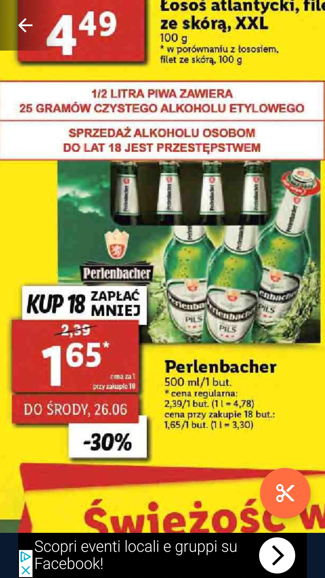 Piwo PERLENBACHER w Lidlu przy zakupie 18szt.