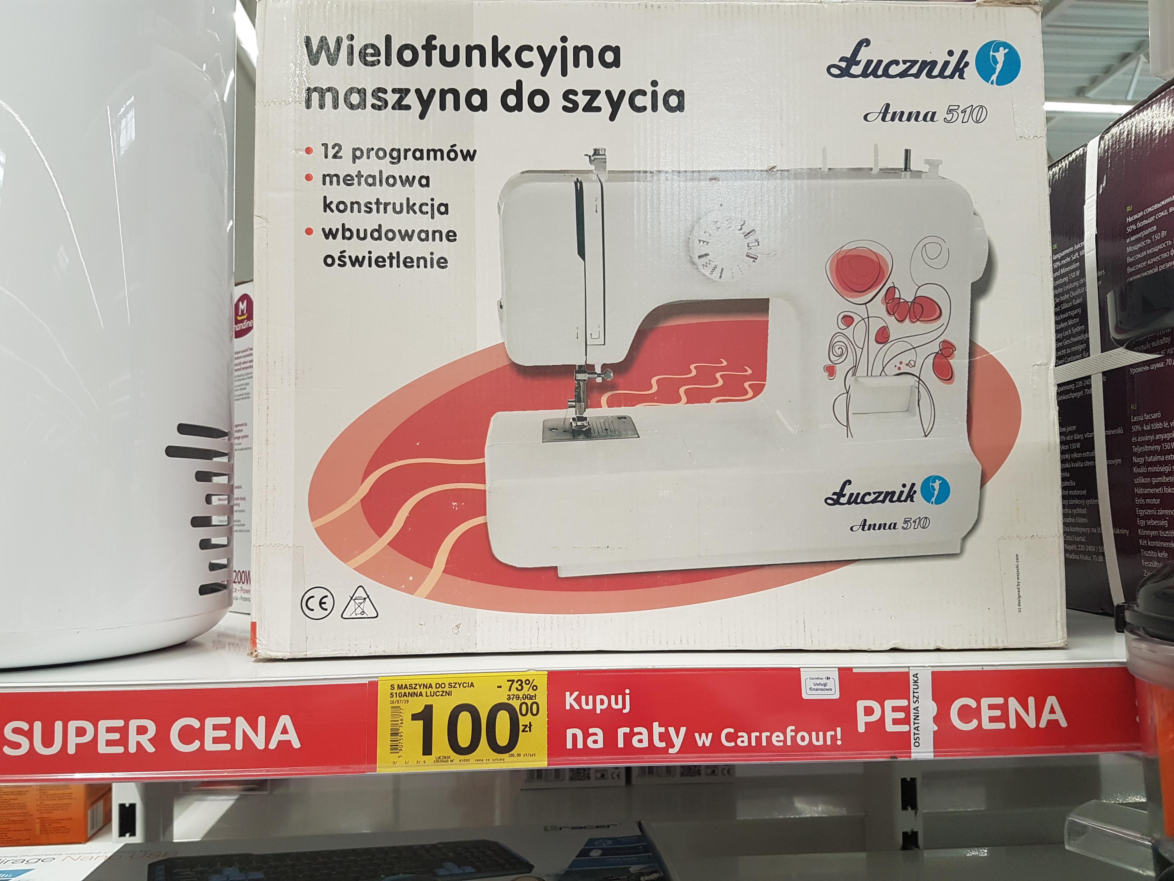 Maszyna do szycia Łucznik Anna 510, Carrefour