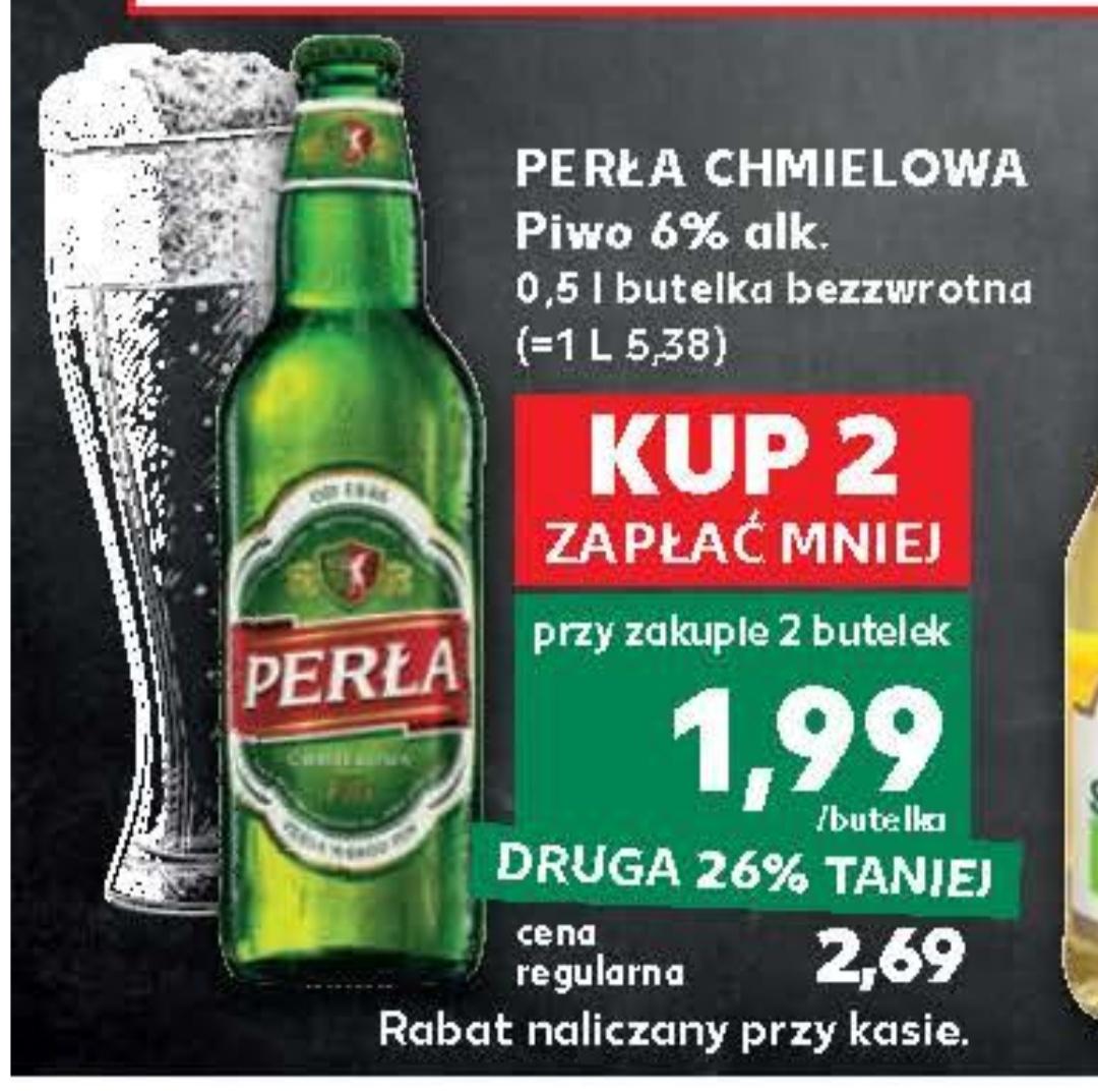 Piwo Perła chmielowa,cena przy zakupie dwóch butelek@Kaufland od 21.06 do 26.06