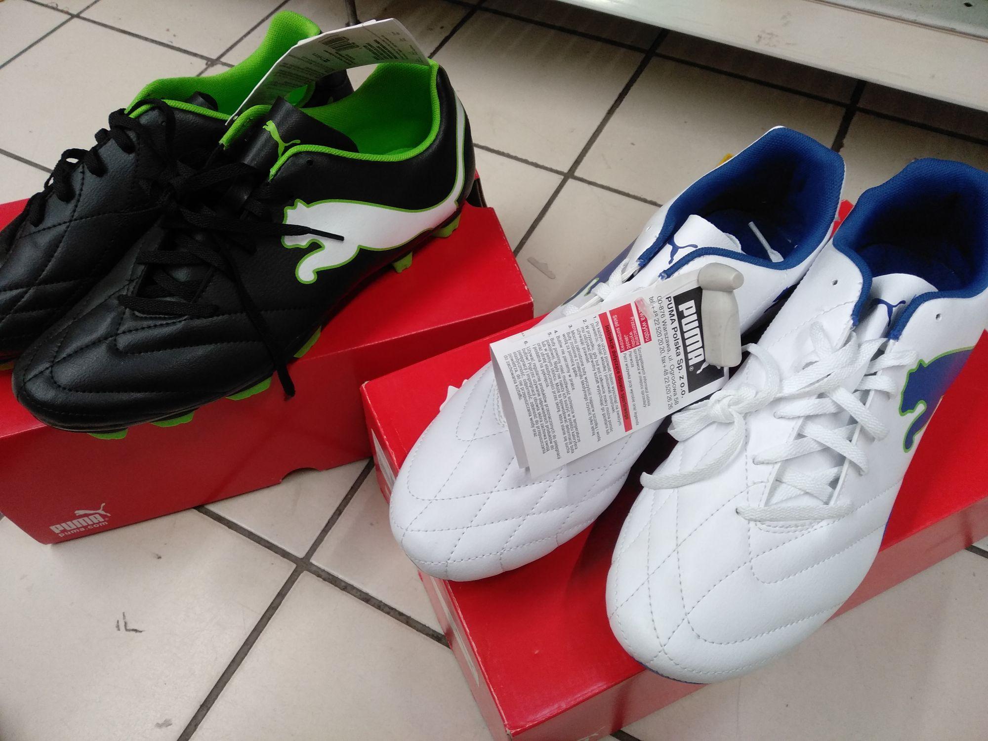 Buty piłkarskie korki lane (lanki) Puma Velize FG męskie i dziecięce (Auchan Katowice Renców - możliwe, że ogólnopolska)