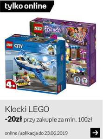 Kup klocki LEGO za min 100 PLN i otrzymaj rabat 20 PLN