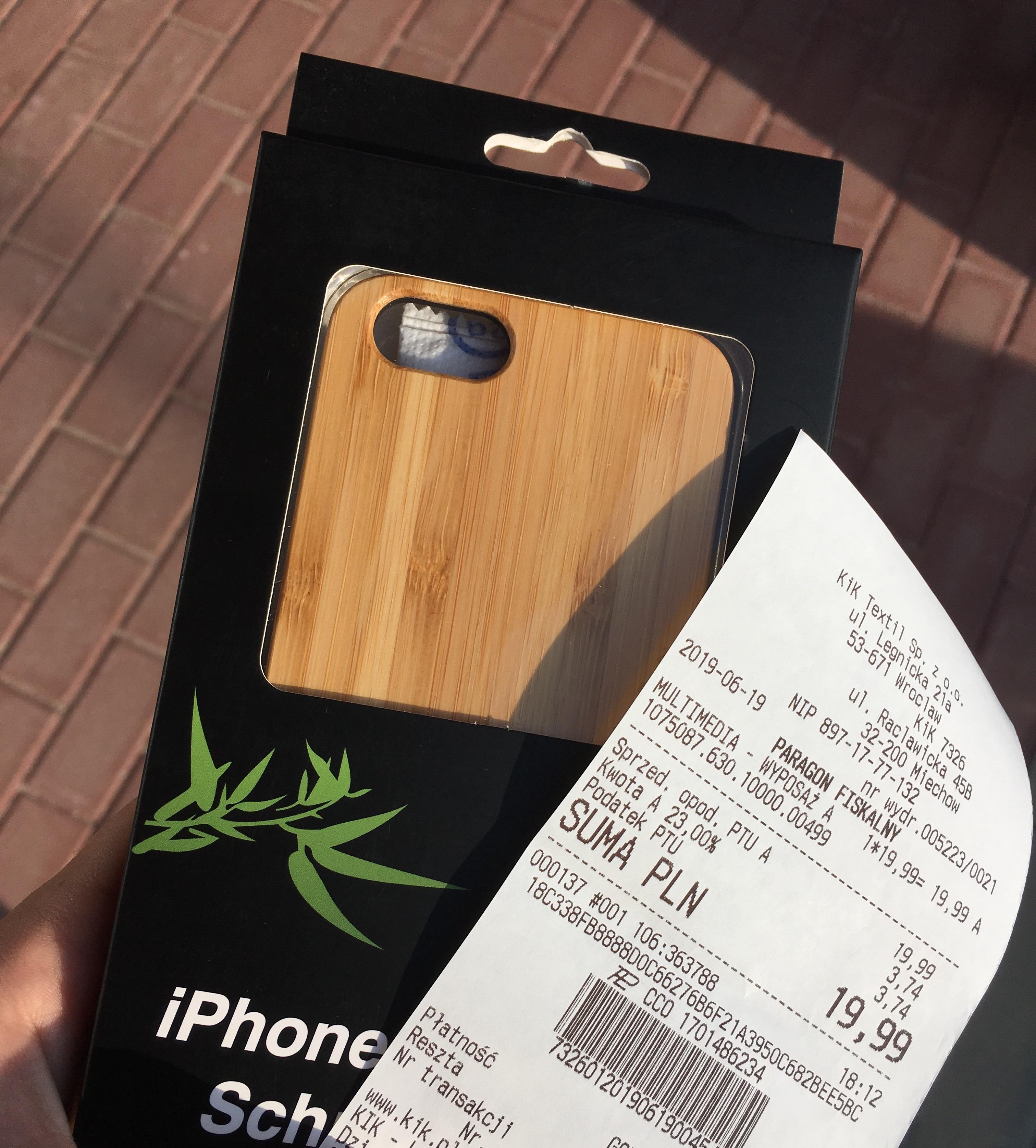 Drewniany case Samsung/iPhone @KiK