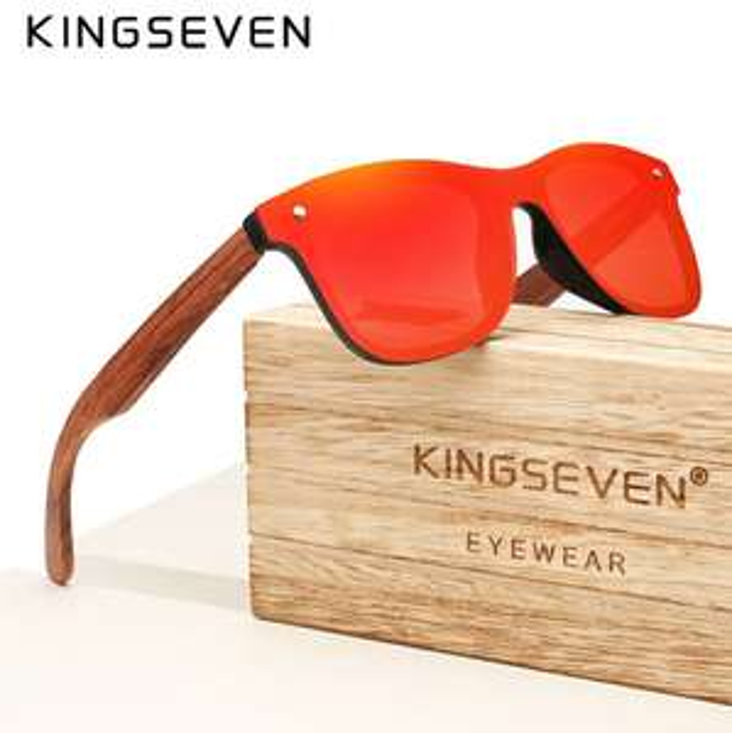 Okulary przeciwsłoneczne bambusowe KINGSEVEN