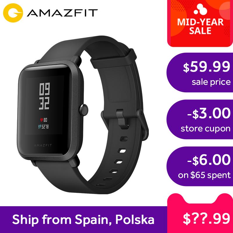 Smartwatch Xiaomi Amazfit BIP z wysyłką z Polski za ~194zł (możliwe ~179zł) @AliExpress