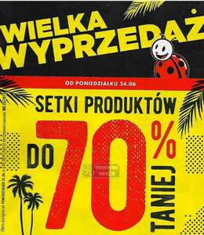 Wyprzedaże do 70% @Biedronka