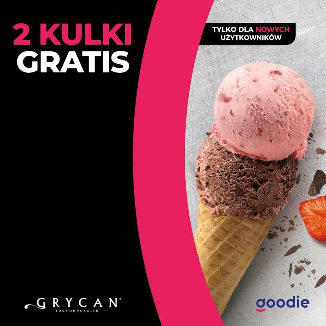 2 gałki lodów gratis w Grycan