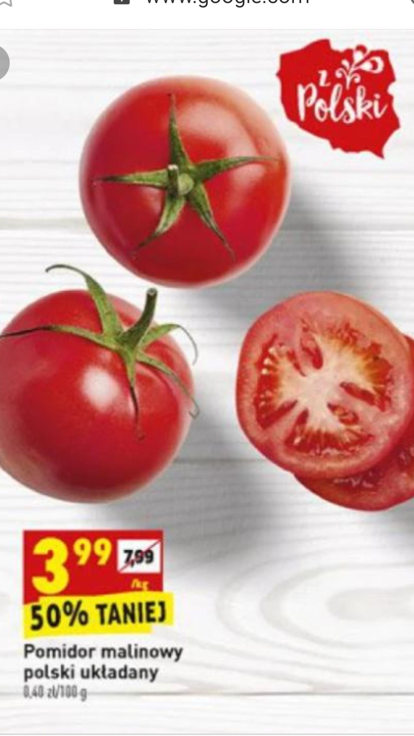 Pomidory malinowe polskie układane Biedronka
