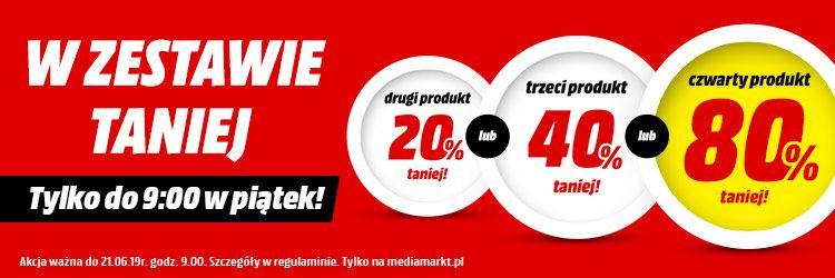 MediaMarkt akcja na zestawy ( cały asortyment) do 80% rabatu