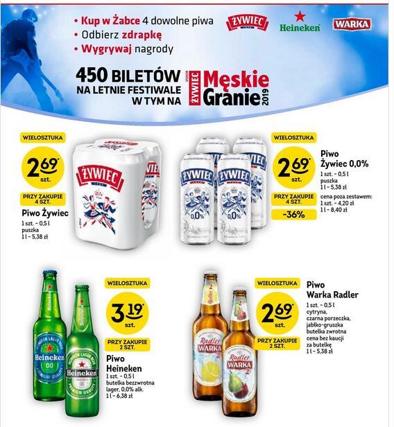 Żabka: 4x Piwo Żywiec 0,0% z 2,69zł