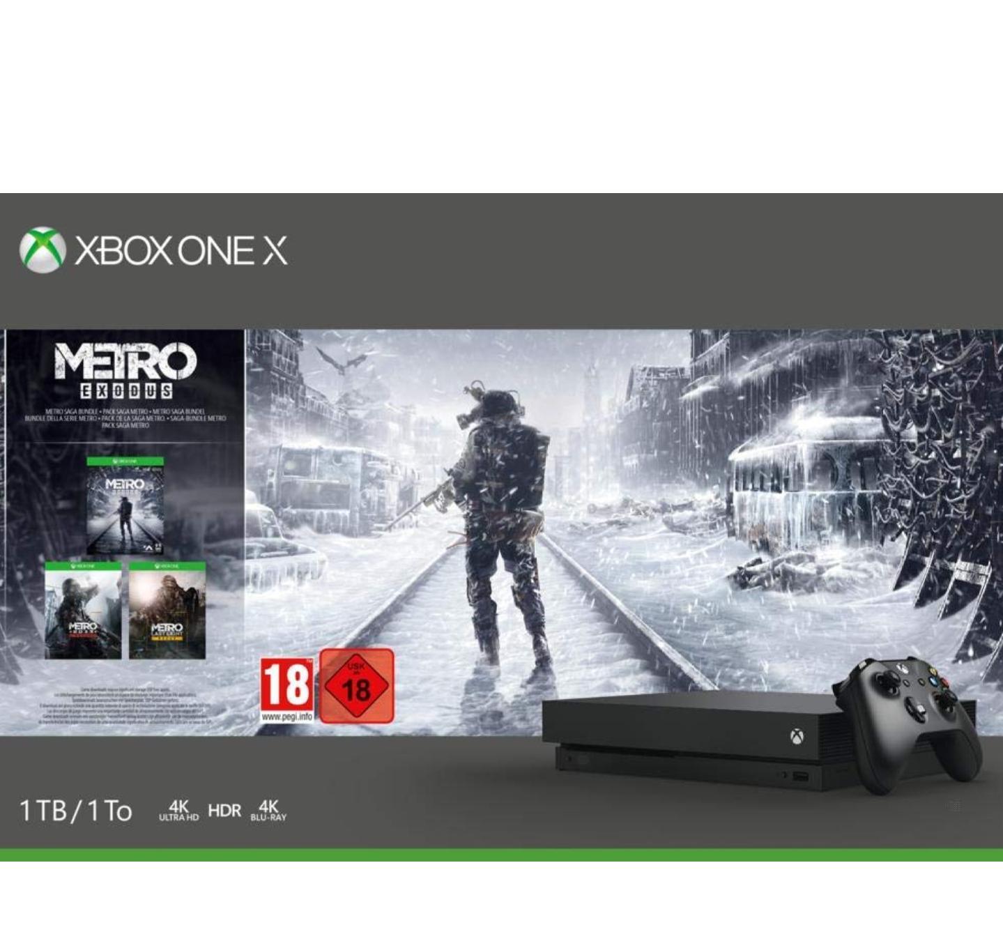 Super cena za Xbox one X z grą Metro Exodus! Amazon.de