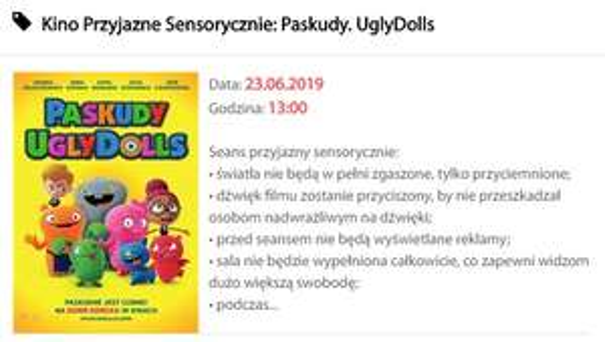 Koszalin Kino Kryterium. Kino Przyjazne Sensorycznie: Paskudy. UglyDolls - 10 zł/os.