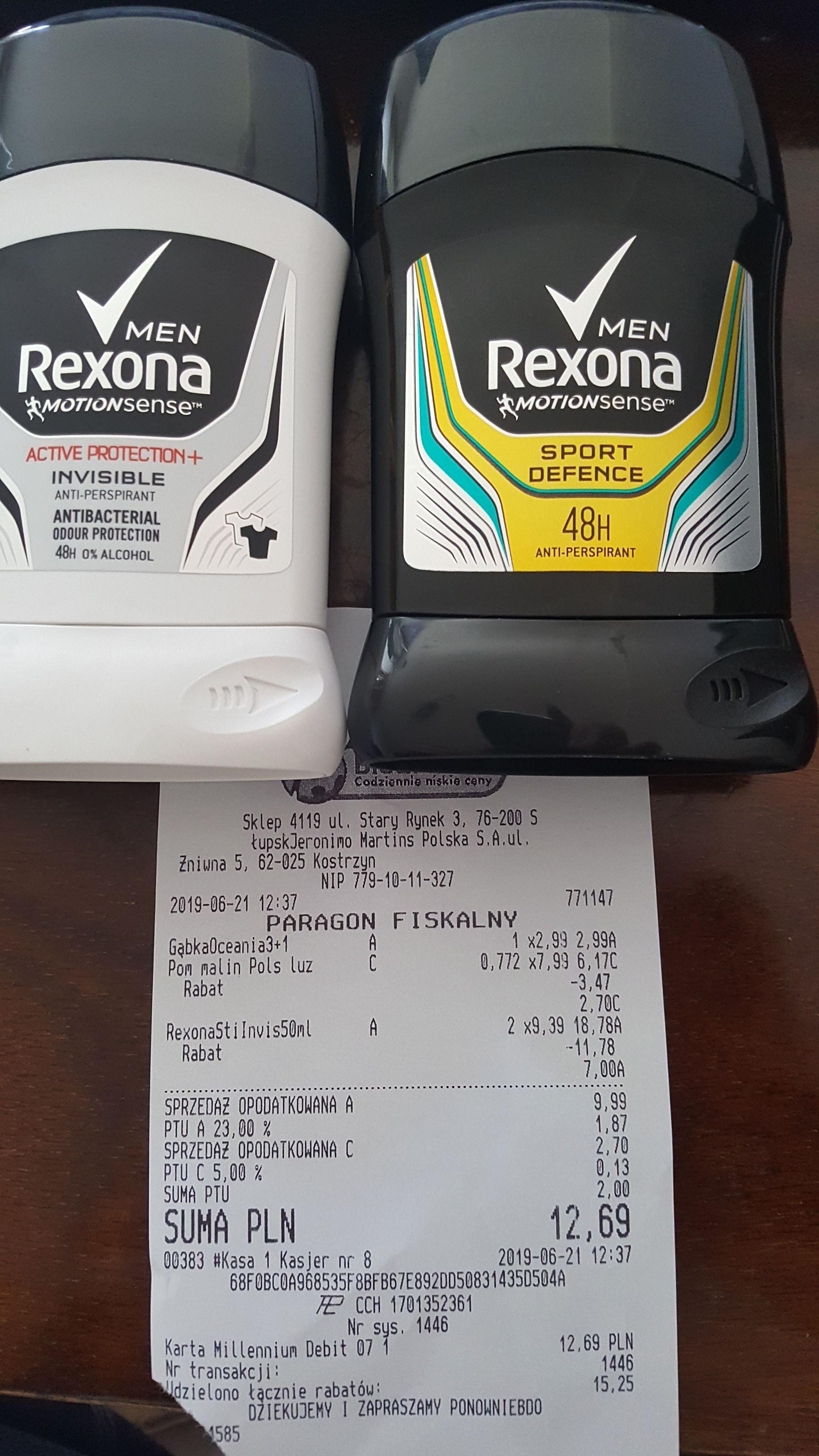 Antyperspirant w sztyfcie Rexona @ Biedronka błąd cenowy