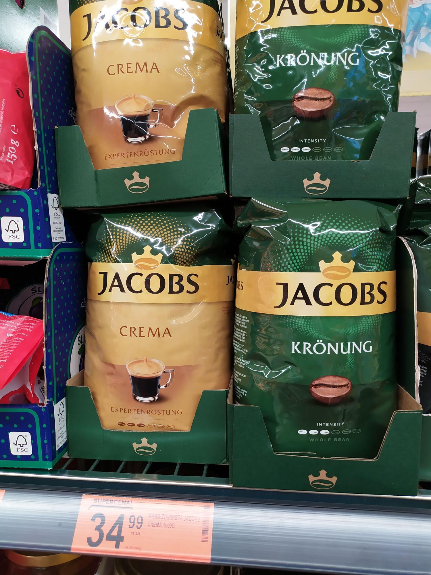 Kawa Jacobs ziarnista 1kg . Biedronka