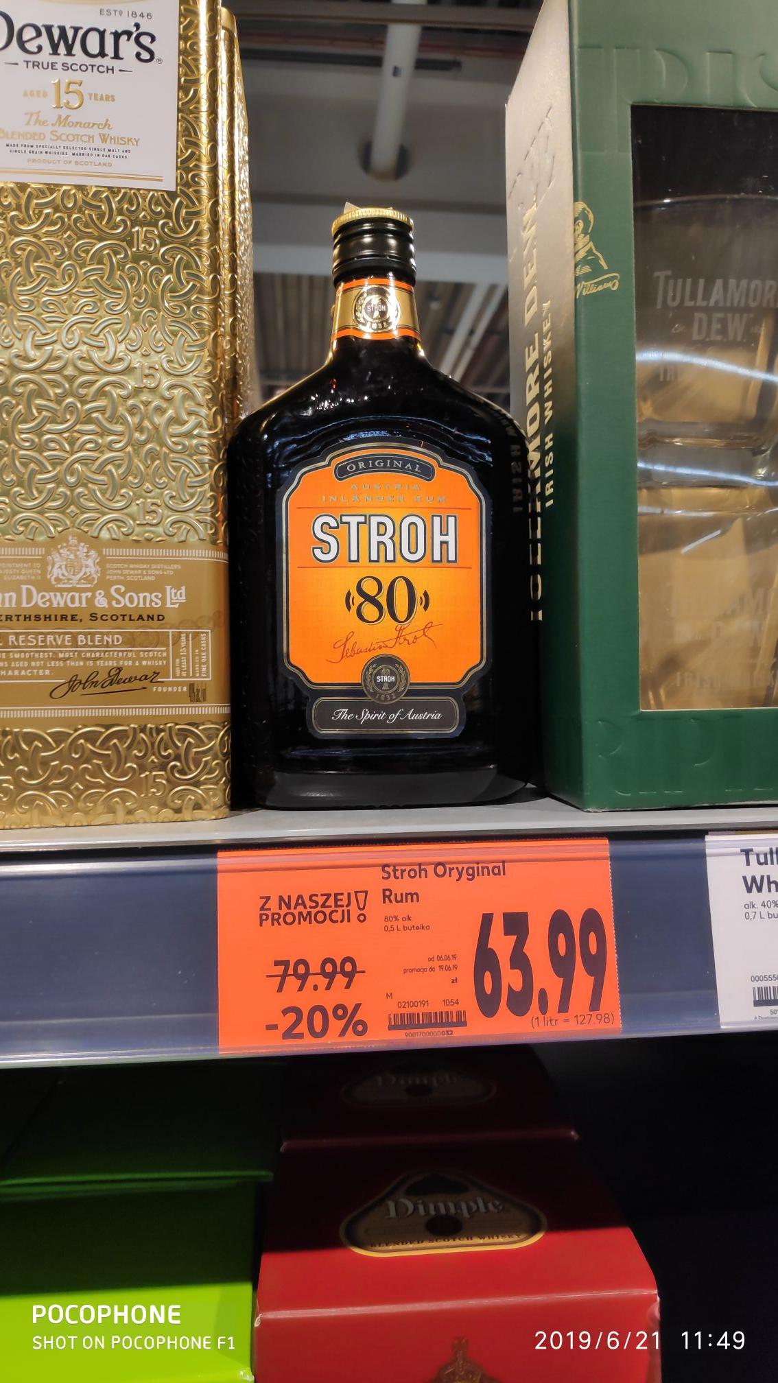 Rum Stroh Oryginal 80% (KAUFLAND Świdnica)
