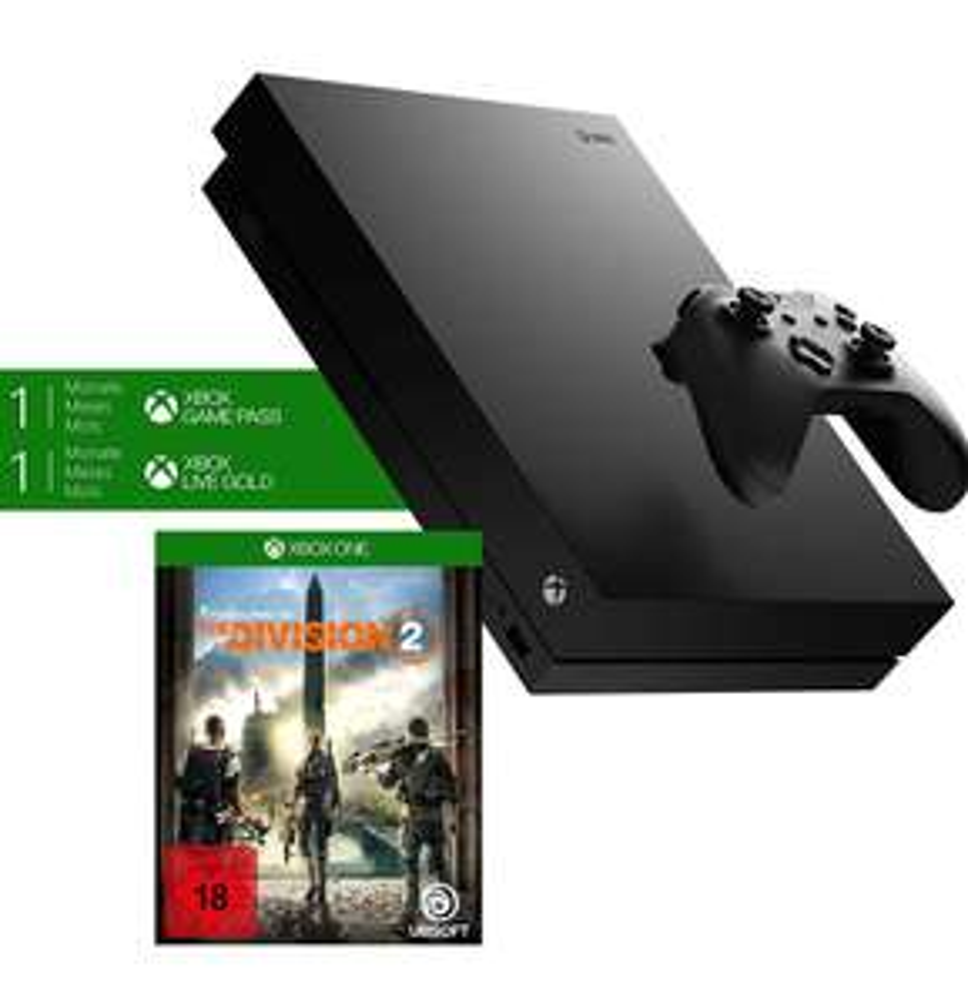 Xbox One X 1TB, czarna - The Division 2. Amazon.de