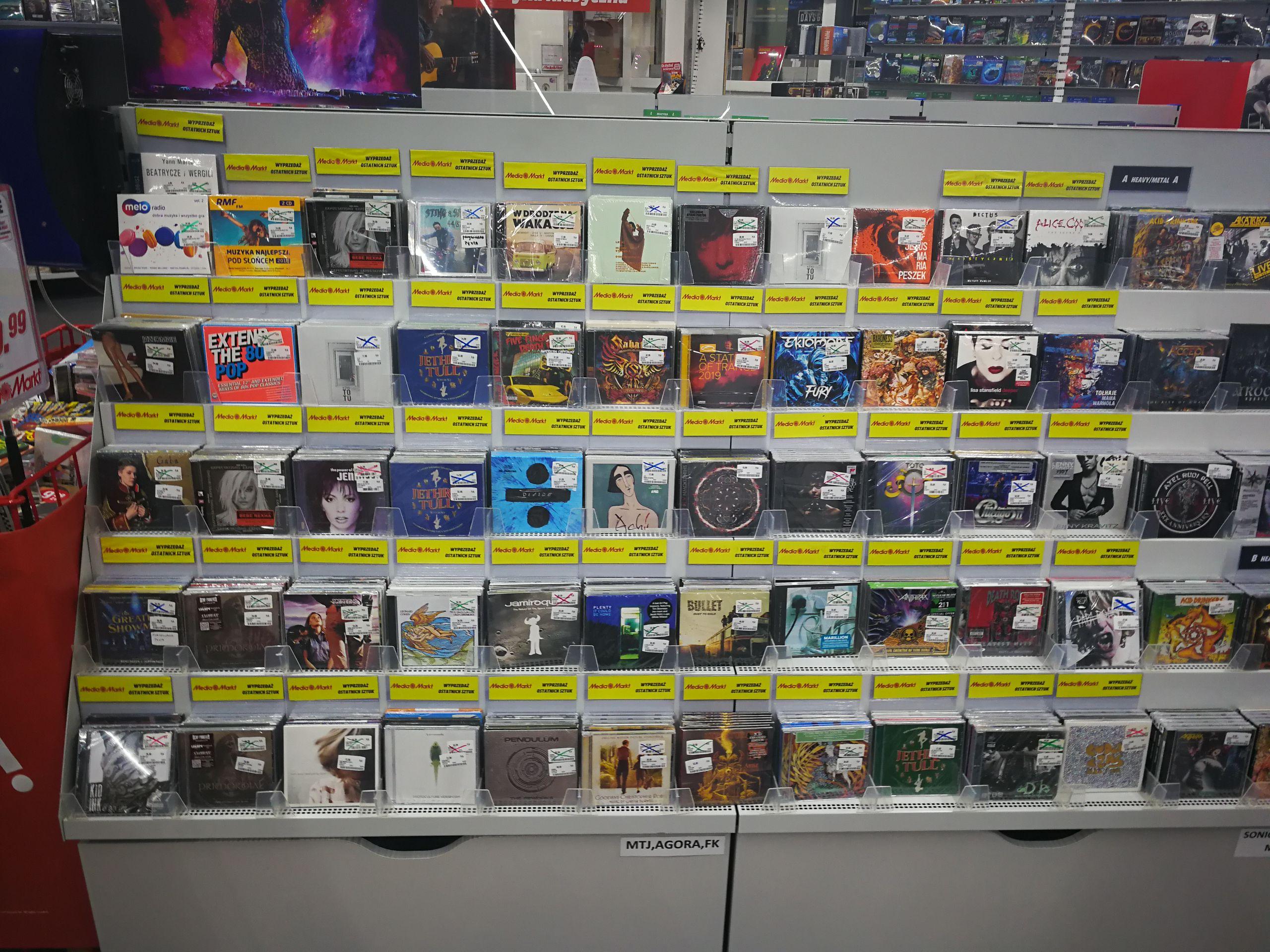 Wyprzedaż muzyki Media Markt Złote tarasy