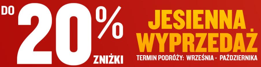 Rabat 20% na przeloty (wrzesień-październik) - Ryanair
