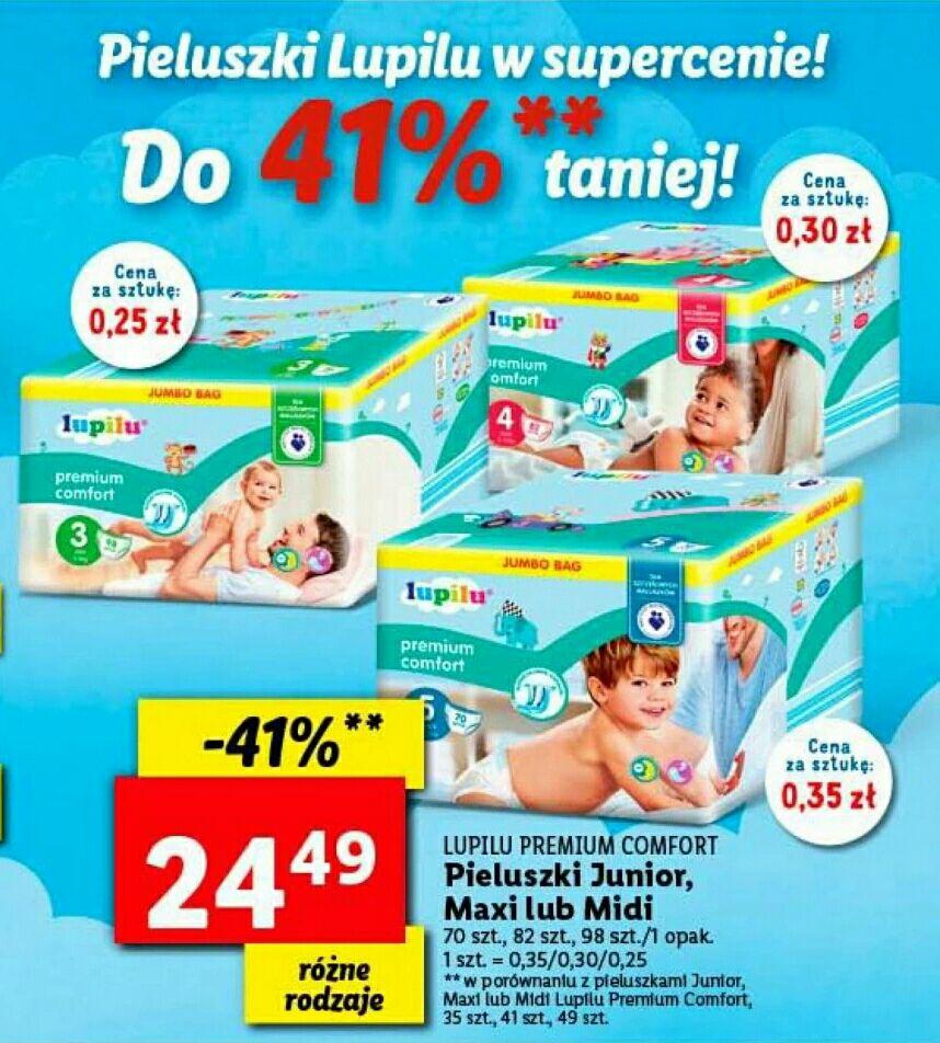 Pieluszki Lupilu Junior, Maxi i Midi do 41% taniej - Lidl