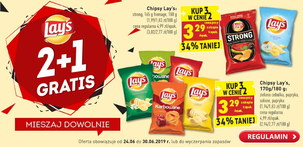 Chipsy Lay's w biedronce. Kup 3  w cenie 2.