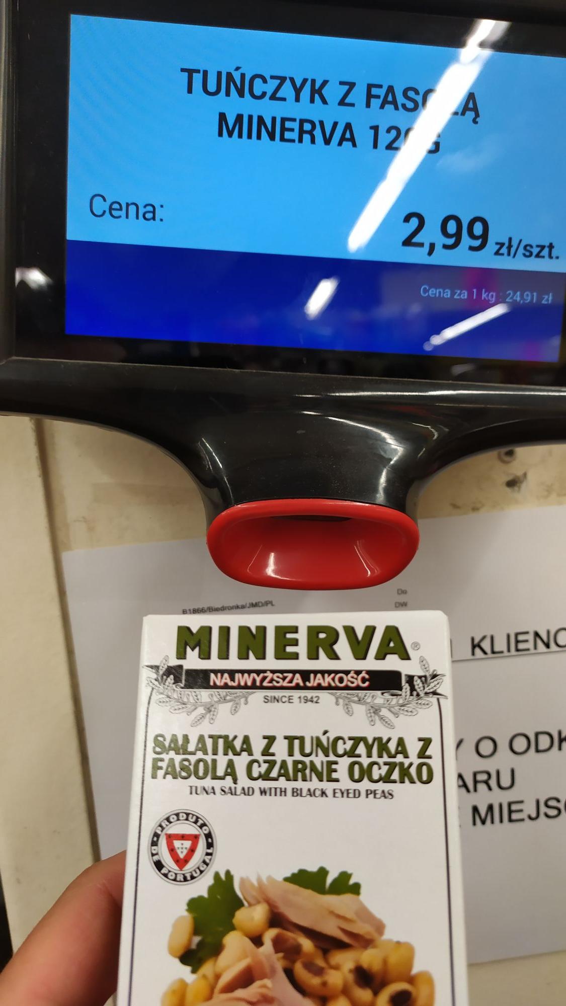 Biedronka Sosnowiec sałatka Minerva z tuńczykiem