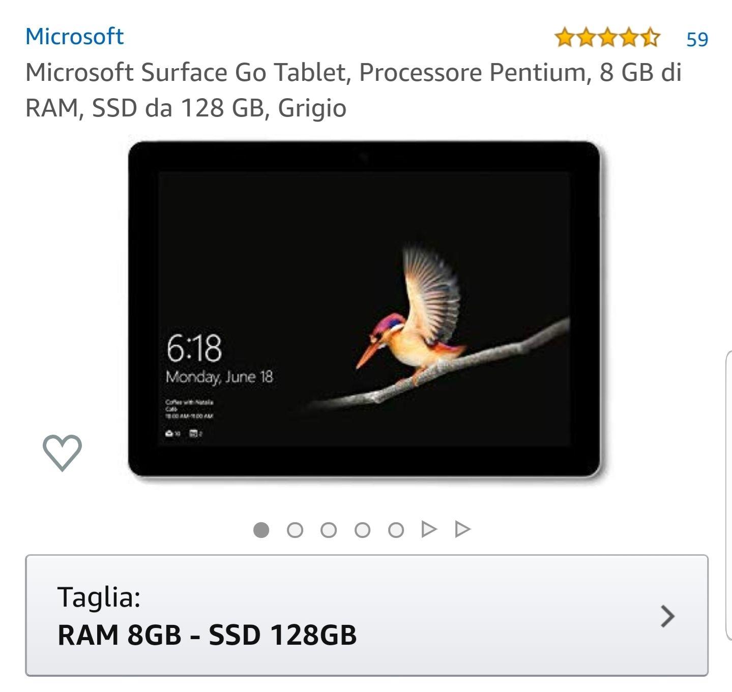 Laptop / Tablet 2w1 Microsoft Surface Go 128 GB Windows 10 NAJTANIEJ W HISTORII!