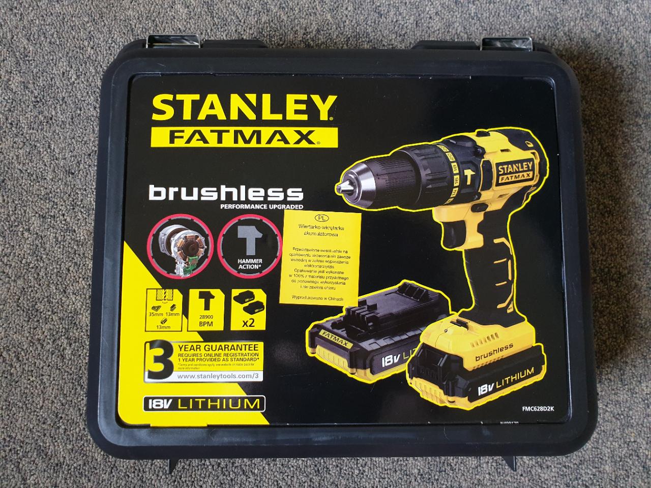 Wiertarka akumulatorowa Stanley FCM628 18V z udarem