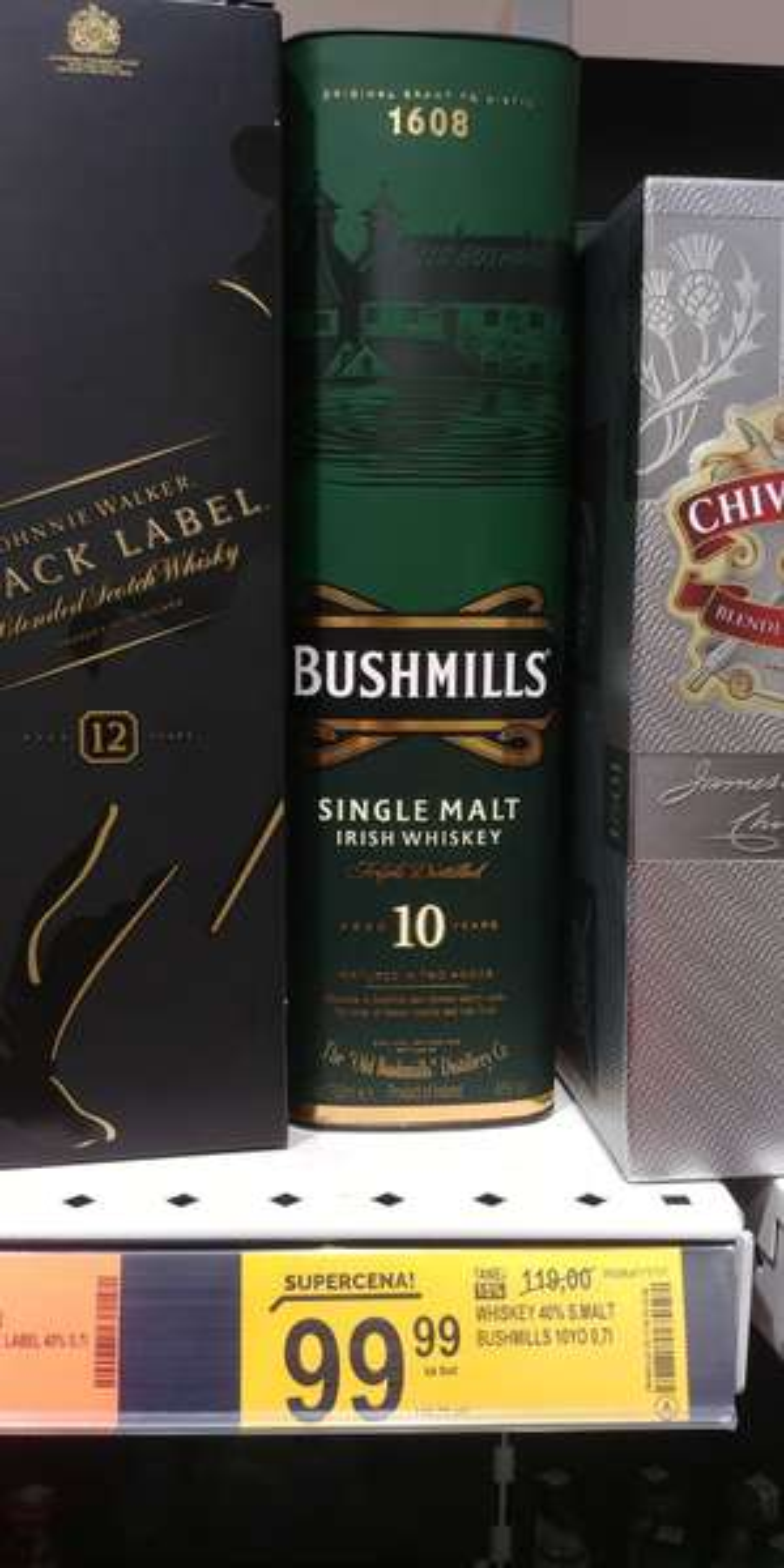 Whiskey Bushmills 10yo Single Malt   Biedronka