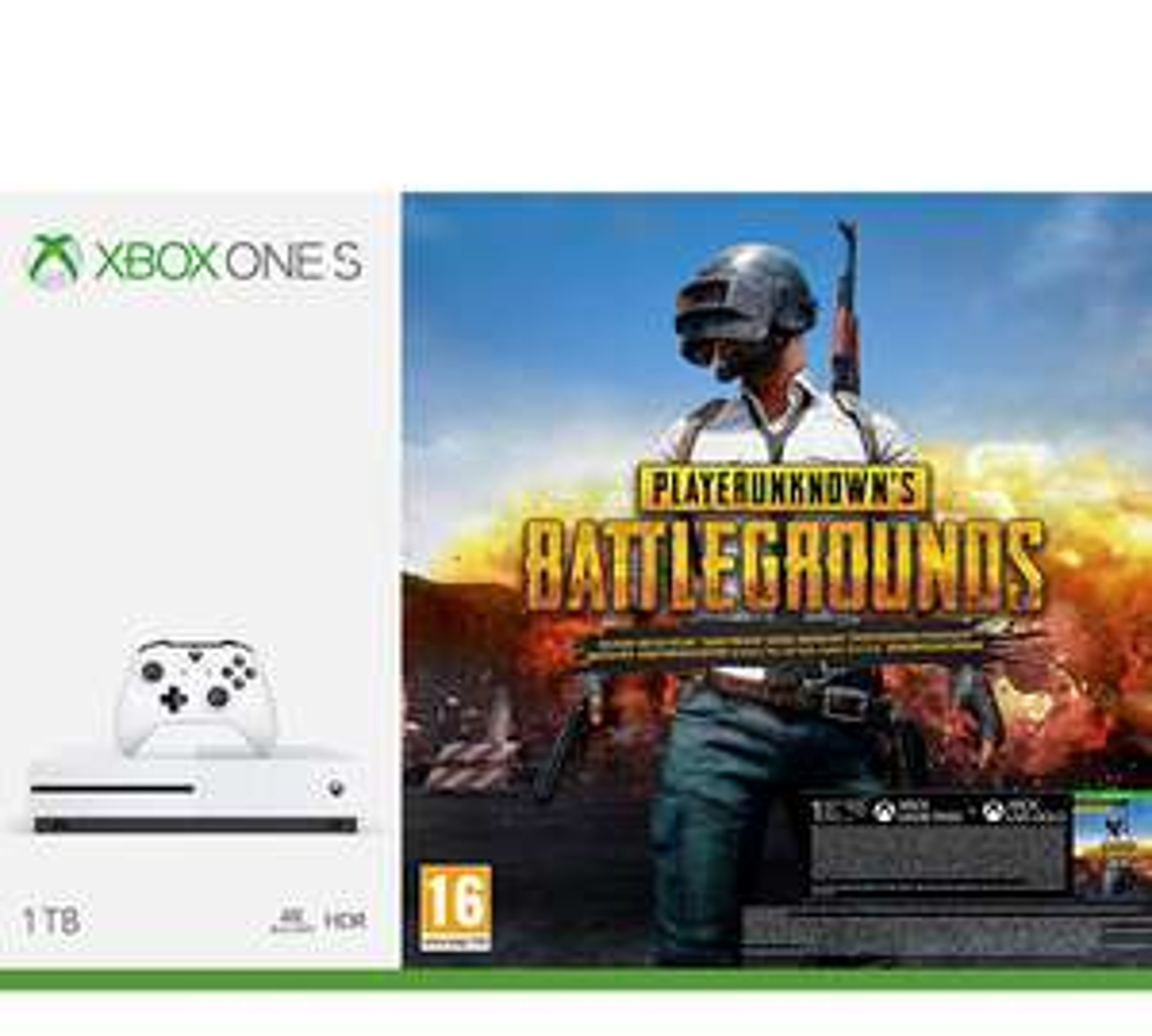 Xbox One S 1TB wersja z blu-ray  + Playerunknowns Battlegrounds. Amazon.es