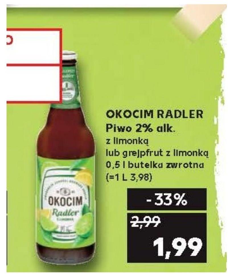 Piwo Okocim Radler. Kaufland