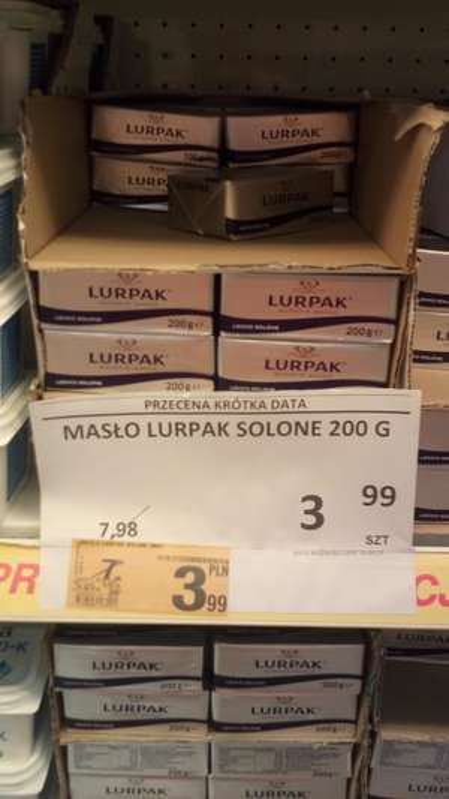 Auchan, masło Lurpak 200g