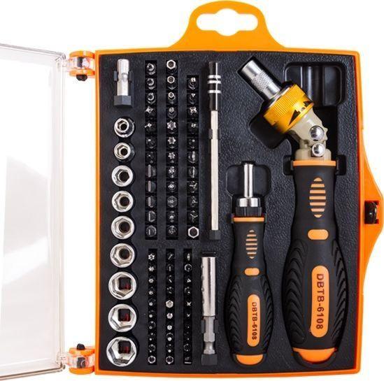 Narzędzia serwisowe DigitalBOX DBTB-6108, zestaw bitów i nasadek z rękojeściami