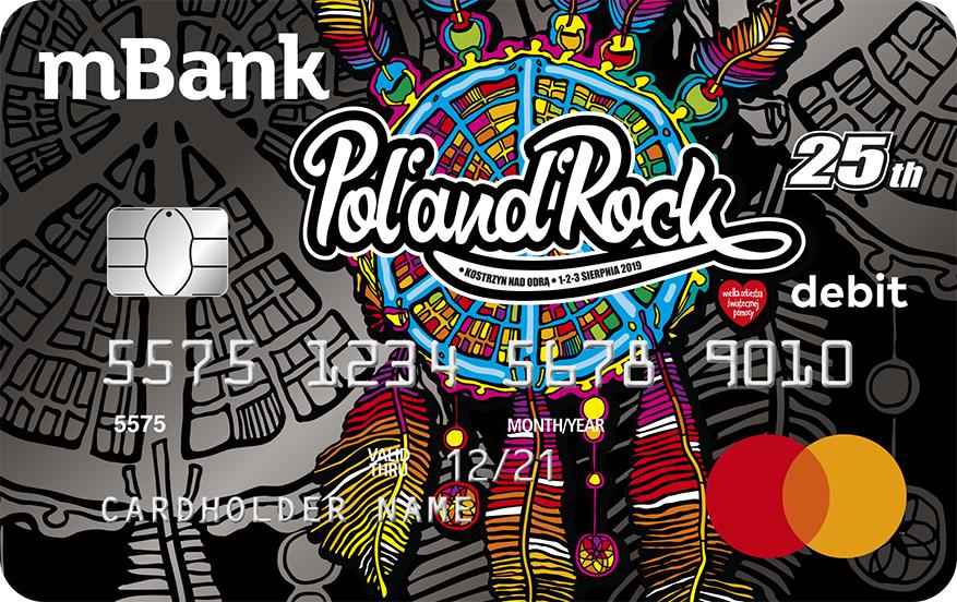 Pol'and'Rock - limitowana karta debetowa od mBanku