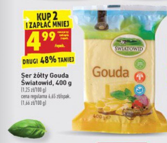 Ser Gouda 400g przy zakupie 2 sztuk @Biedronka oraz inne sery w promocji