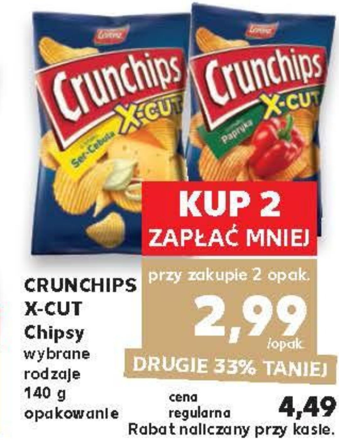 Crunchips X-cut 140 g,cena za opak przy zakupie dwóch opak@Kaufland 27.06-03.07
