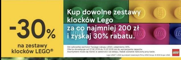 Dowolny zestaw klocków Lego -30% (MWZ 200zl) Tesco