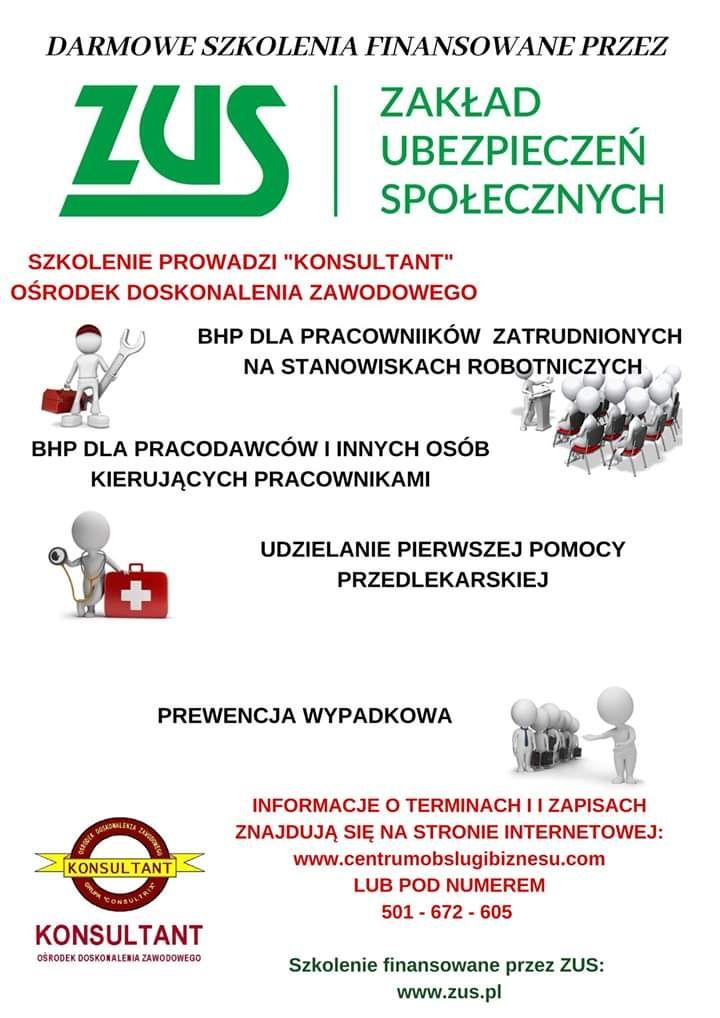 Darmowe szkolenia BHP i Pierwsza Pomoc.