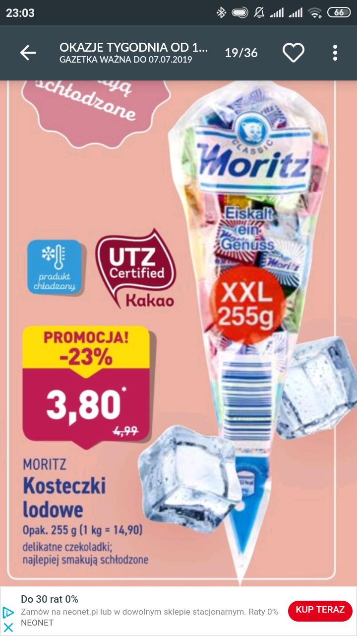 Czekoladki kosteczki lodowe Moritz 255 G Aldi @Aldi