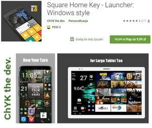 Square Home Key - Launcher Lumia Android Windows Kafelki