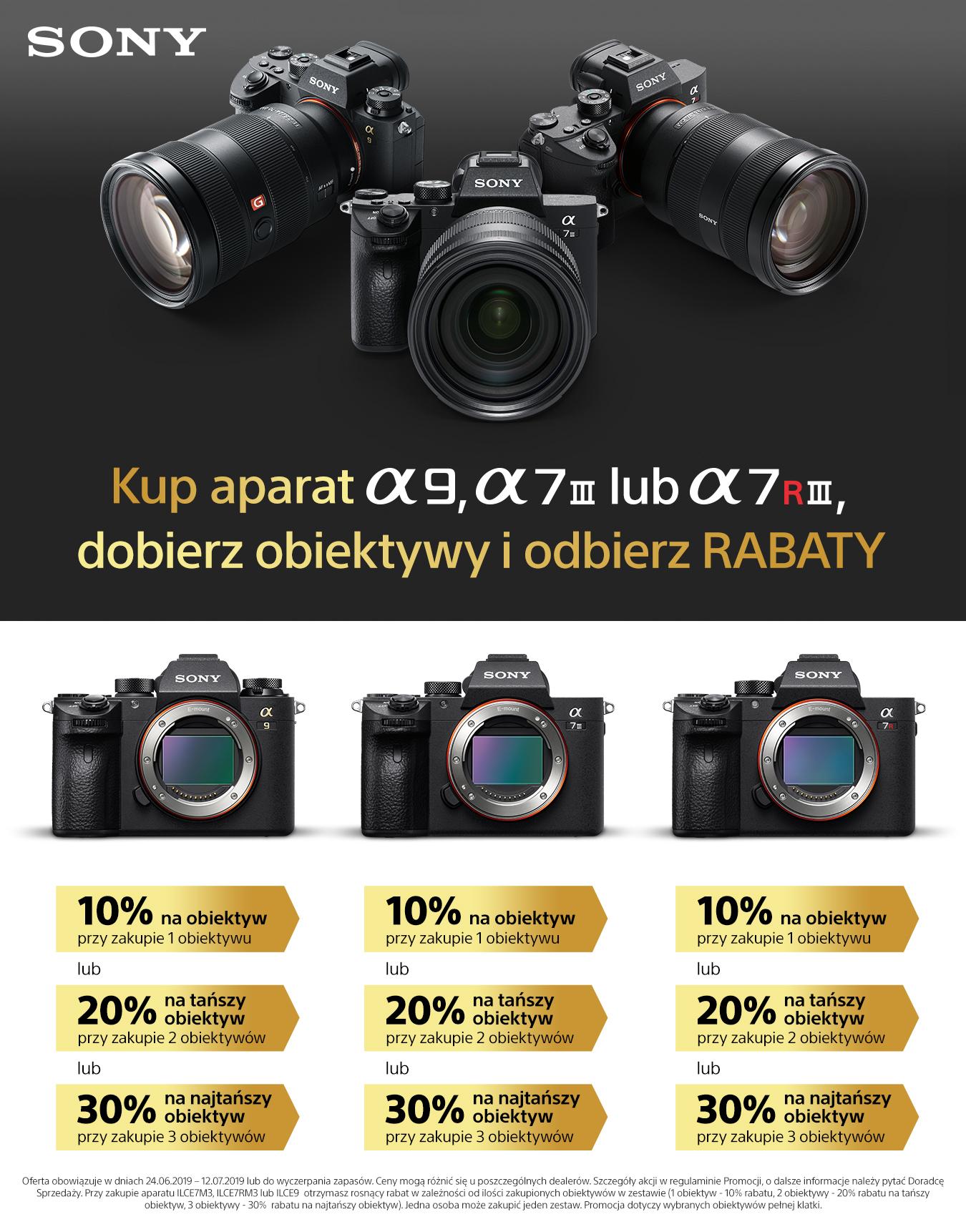 Kup aparat Sony Alpha, dobierz obiektywy, odbierz rabaty do 30%