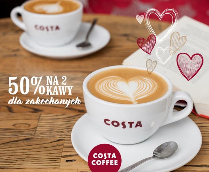 Walentynki: 2 kawy w cenie 1 @ Costa Coffee