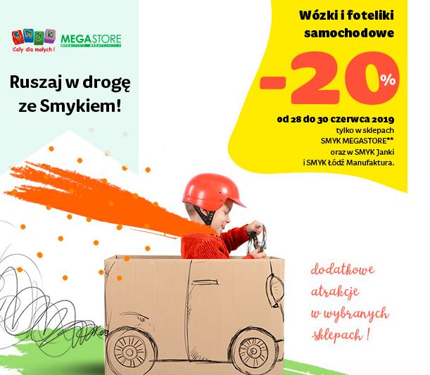 -20% rabatu na wózki i foteliki samochodowe @Smyk