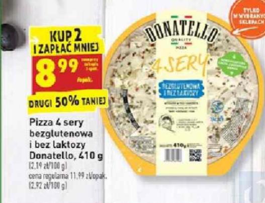 Pizza bezglutenowa 4 sery, druga 50% taniej @biedronka