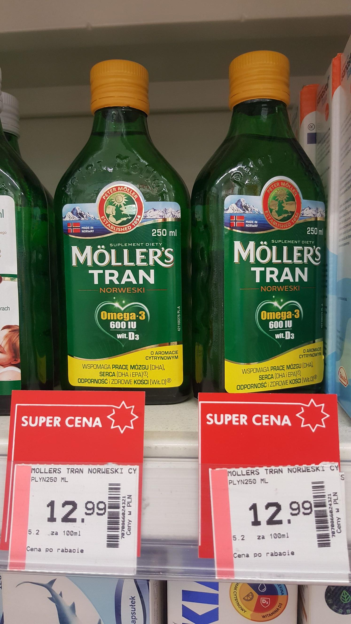 Mollers tran norweski 12.99zł w superpharm