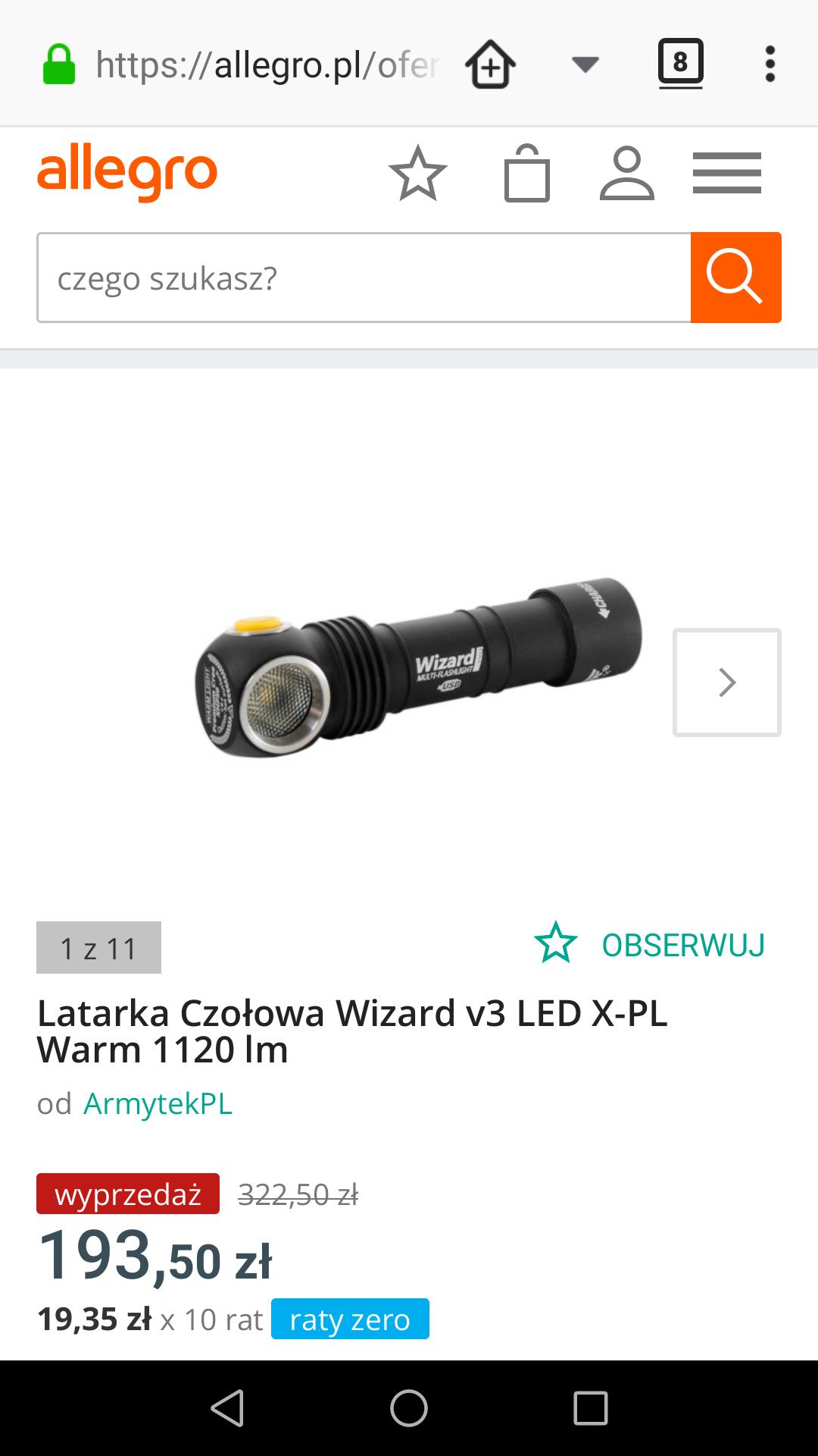 Latarka Czołowa Wizard v3 LED X-PL Warm