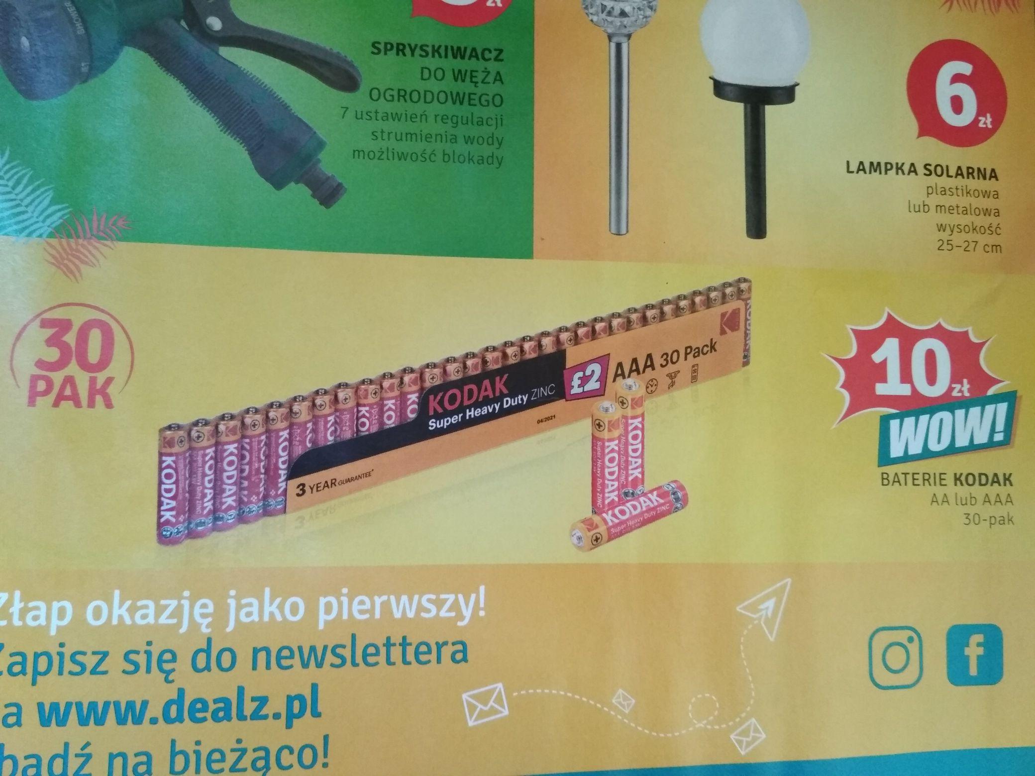 Baterie Kodak Super Heavy Duty 30-pak AAA lub AA @Dealz
