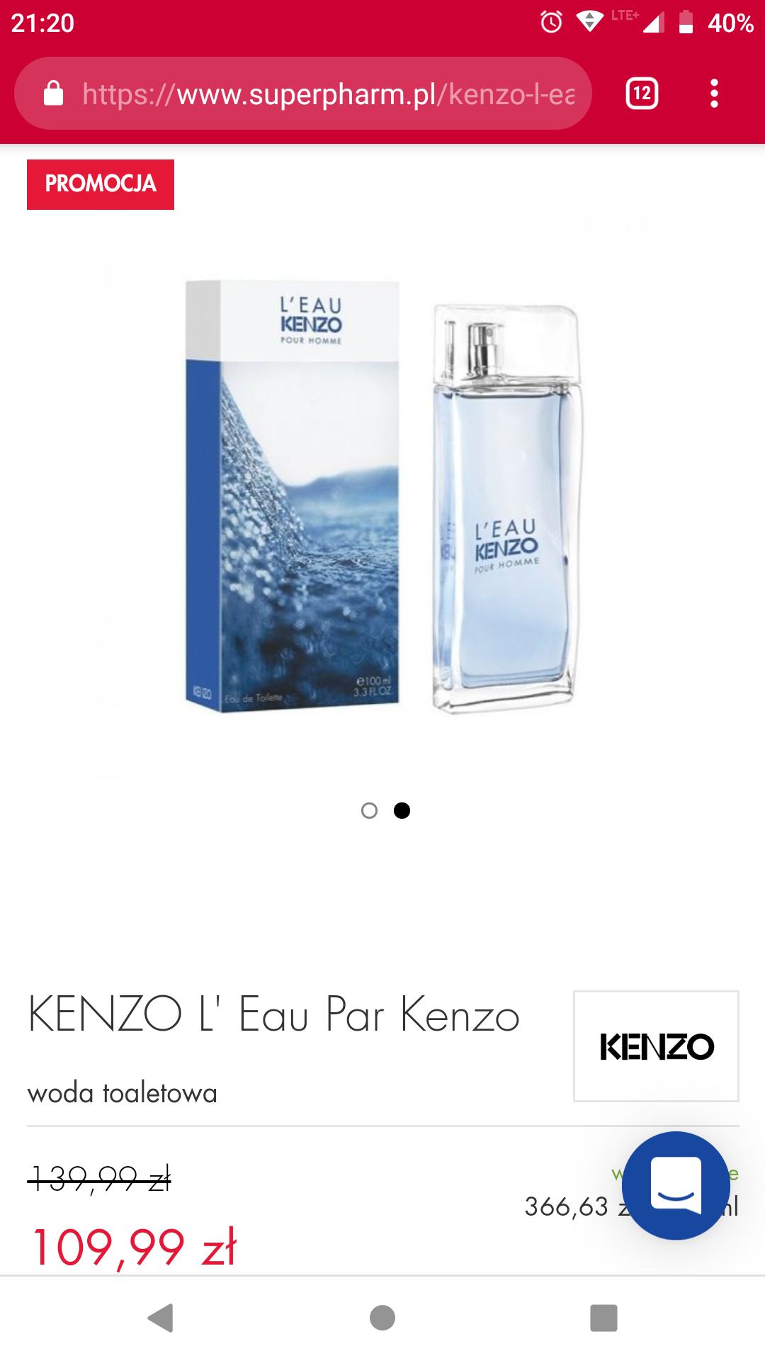 Woda toaletowa Kenzo l'eau pour Kenzo pour Homme (Super Pharm)
