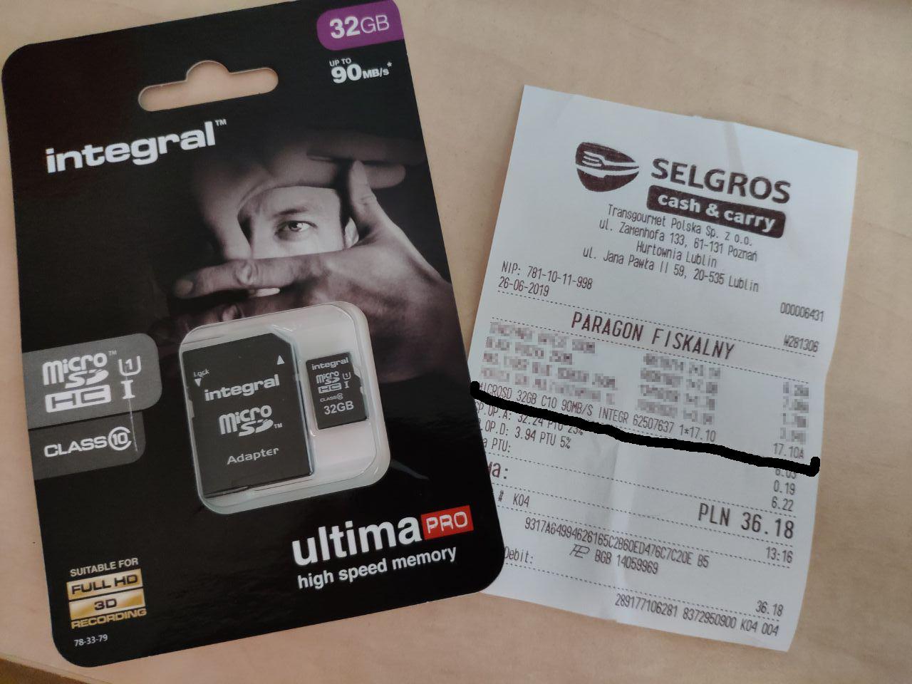 Karta pamięci MicroSD Integral Ultima Pro 32GB @Selgros
