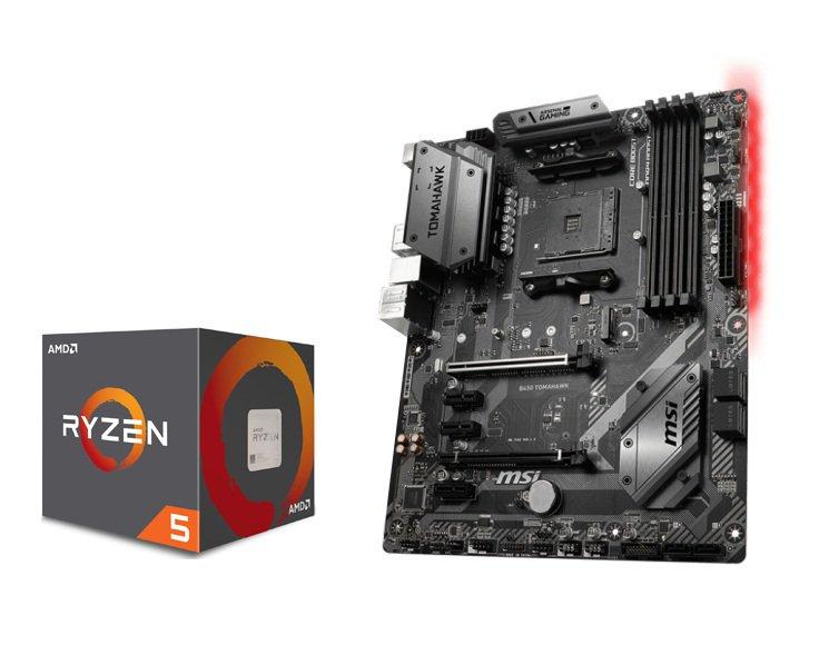 Zestaw modernizacyjny płyta główna MSI B450 TOMAHAWK + Procesor AMD Ryzen 5 2600