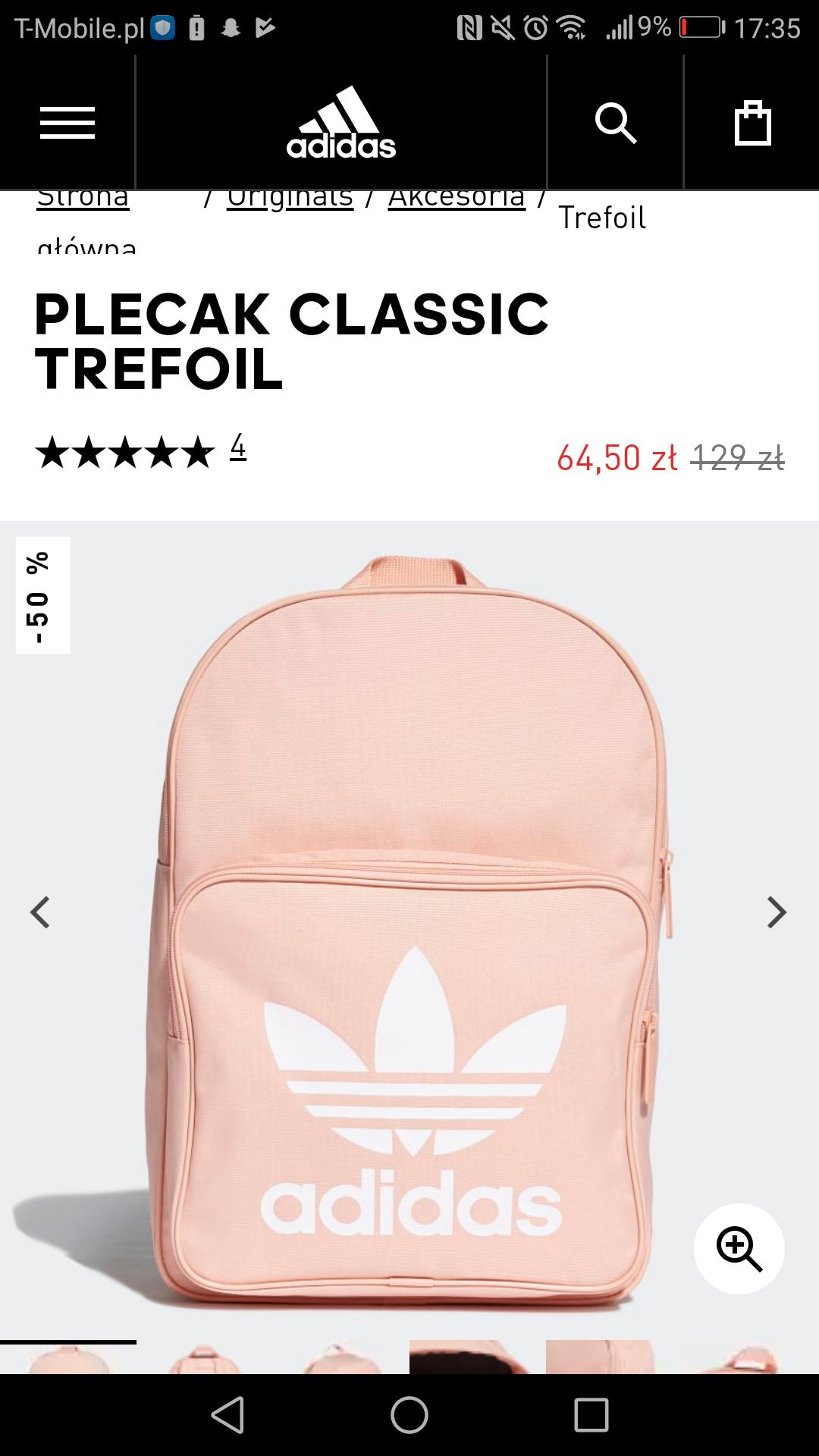 Plecaki adidas po 64zł - różowy 49 - granatowy