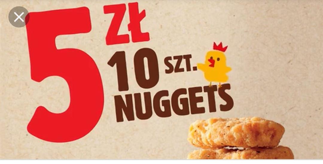 10 nuggets za 5 zł w Burger King